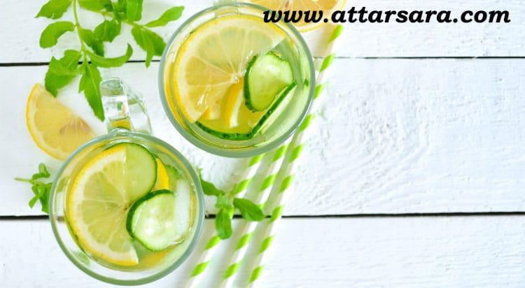 شربت نعنا و لیمو